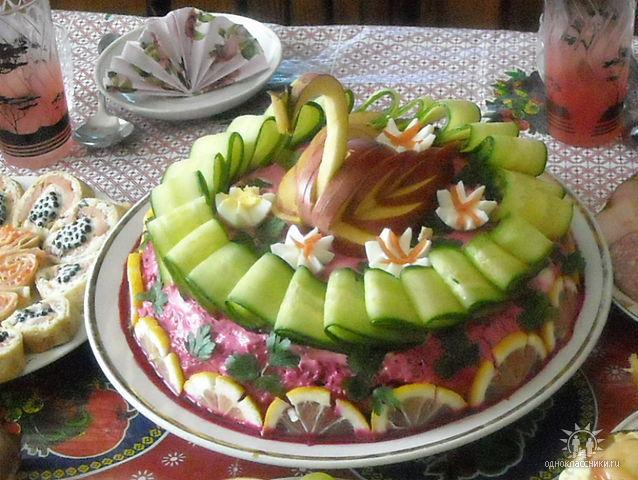 Красивое оформления салатов фото